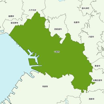 千葉市の地図