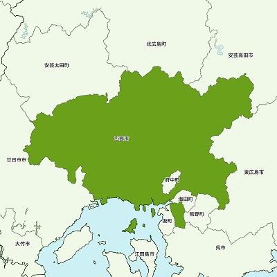 広島市の地図