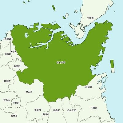 北九州市の地図