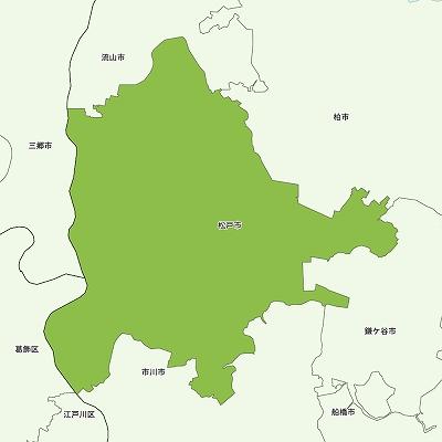 松戸市の地図