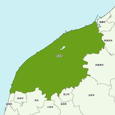 新潟市の地図