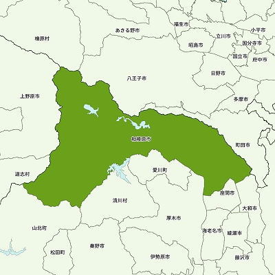 相模原市の地図