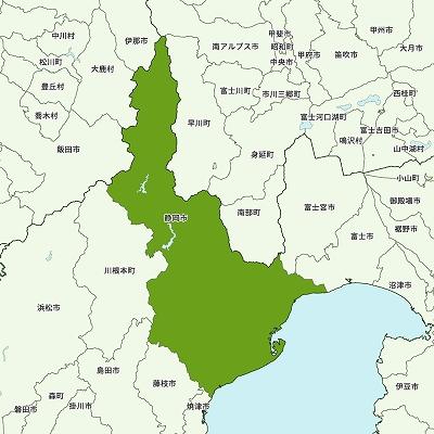 静岡市の地図